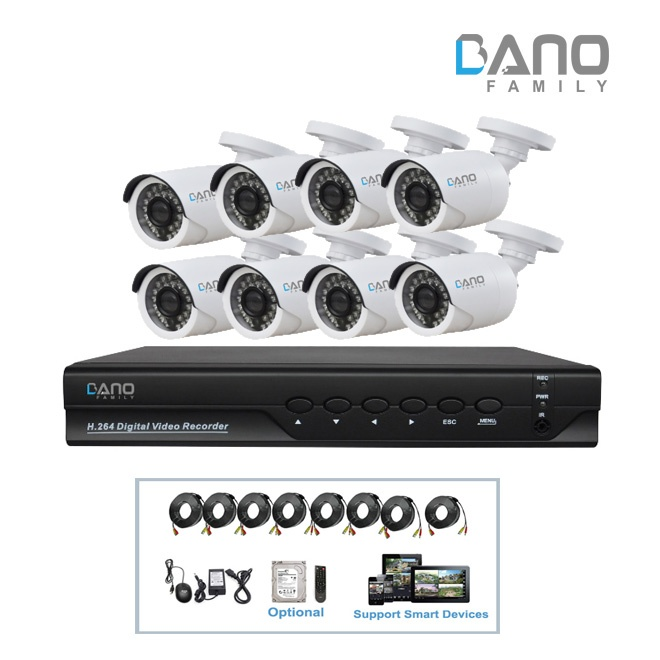BA-AK2224W-8 AHD DVR Kit
