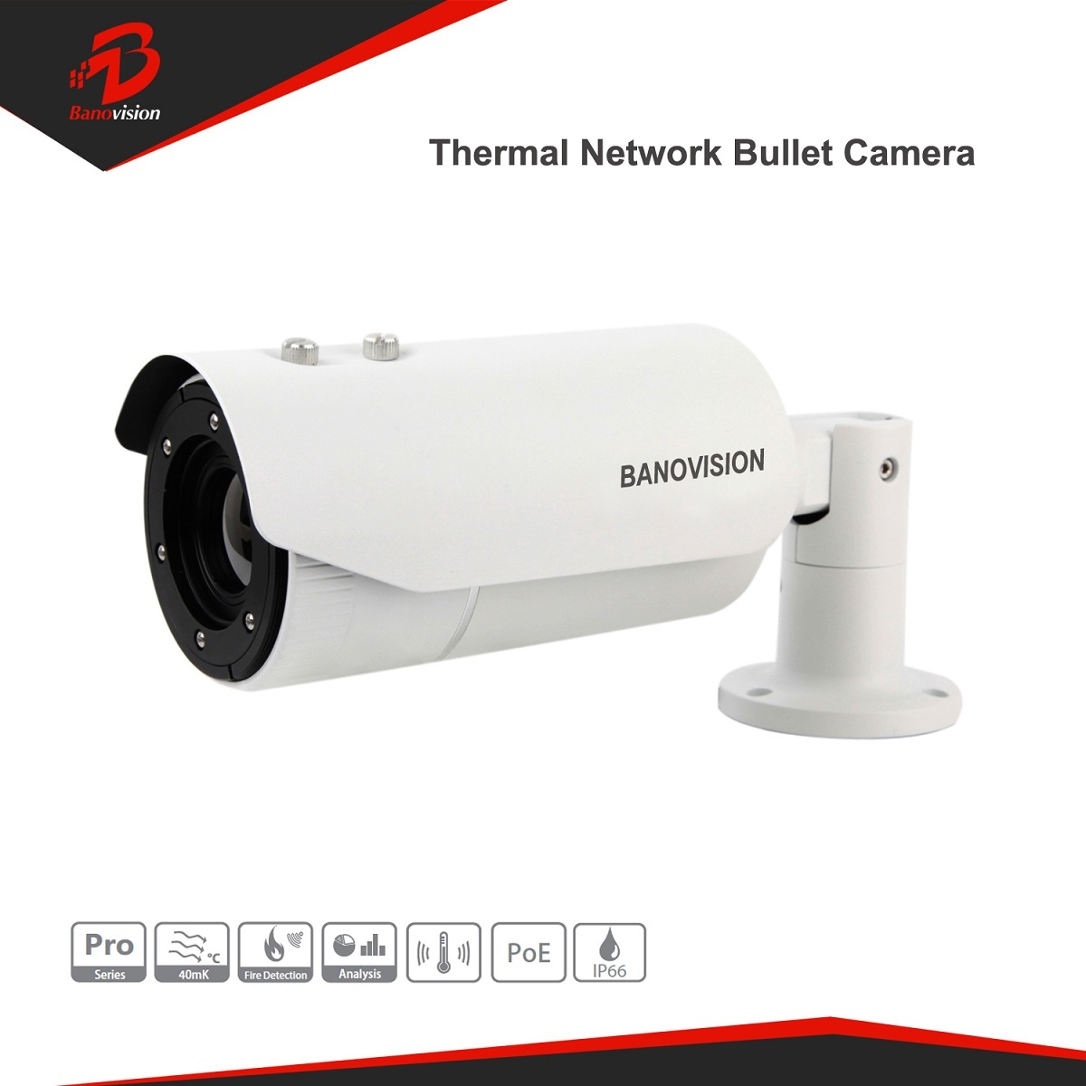Long Distance Uncooled Fpa Network HD Thermal Imaging Camera